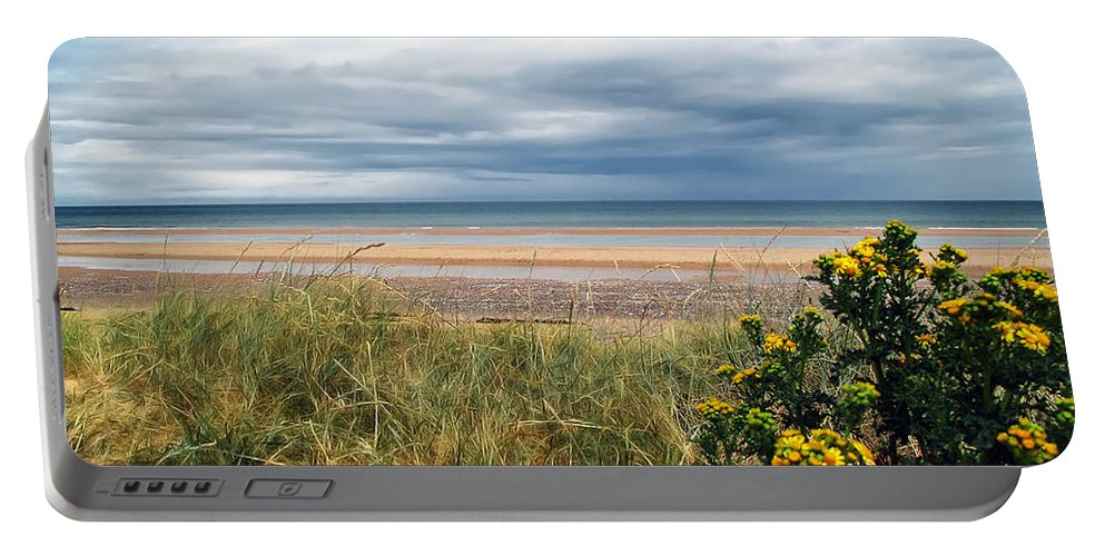 Beach Portable Battery Charger featuring the photograph Normandy Beach by Joan Minchak