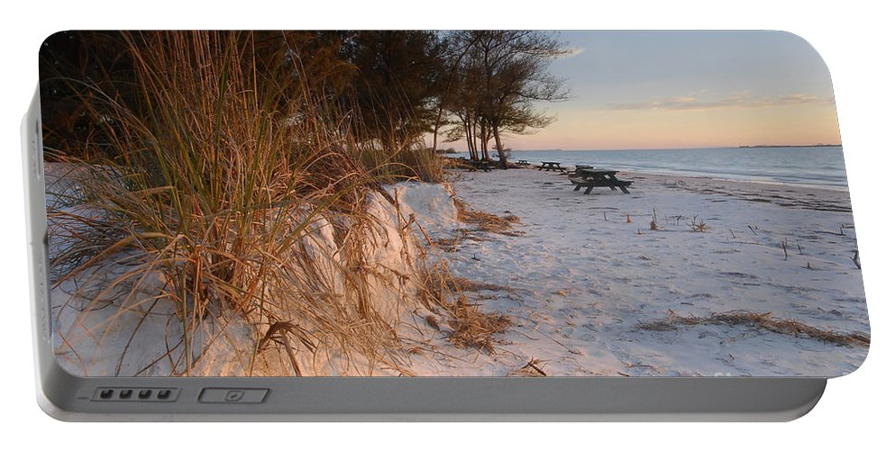 North Beach Portable Battery Charger featuring the photograph North Beach by David Lee Thompson