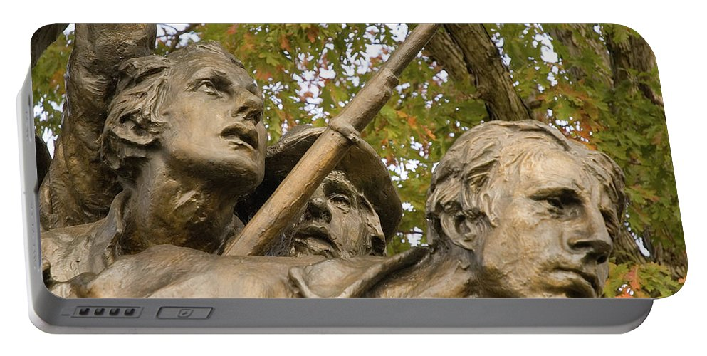 North Carolina Monument Portable Battery Charger featuring the photograph North Carolina Monument by Mick Burkey