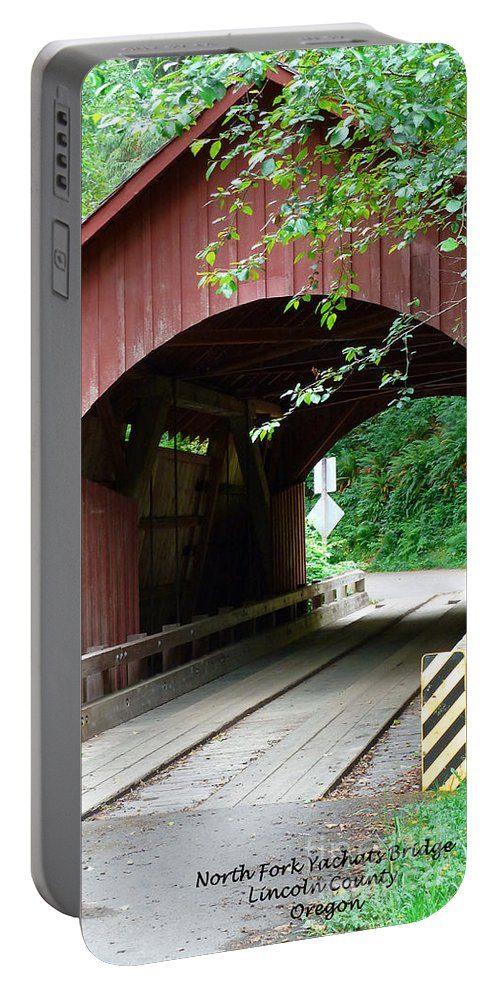 North Fork Yachats Bridge 1 Portable Battery Charger featuring the photograph North Fork Yachats Bridge 2 by Methune Hively