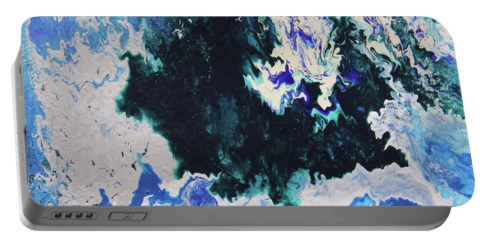 Fusionart Portable Battery Charger featuring the painting North Shore by Ralph White