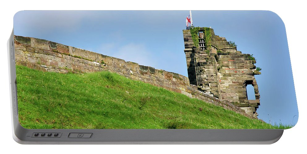 Bright Portable Battery Charger featuring the photograph North Tower- Tutbury Castle by Rod Johnson