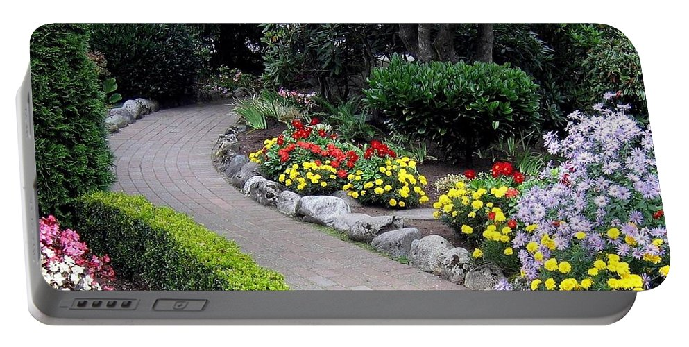 Garden Portable Battery Charger featuring the photograph North Vancouver Garden by Will Borden