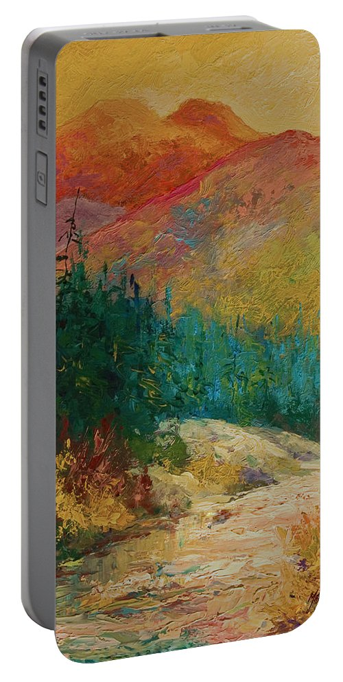 Alaska Portable Battery Charger featuring the painting Northern Essence by Marion Rose