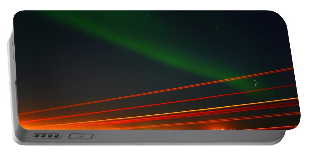 Northern Lights Portable Battery Charger featuring the photograph Northern Lights by Anthony Jones