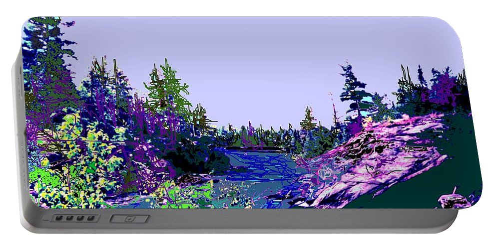 Norlthern Portable Battery Charger featuring the photograph Northern Ontario River by Ian MacDonald