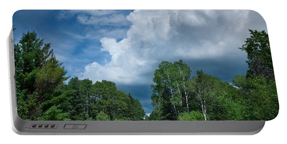 Cloud Portable Battery Charger featuring the photograph Northwoods Road Trip by Steve Gadomski