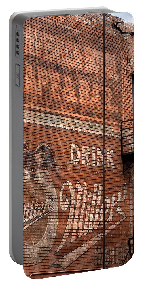 Advertising Portable Battery Charger featuring the photograph Nostalgic Painted Advertising by David and Carol Kelly