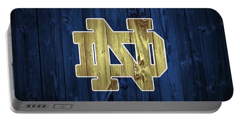 Notre Dame Barn Door Portable Battery Charger featuring the digital art Notre Dame Barn Door by Dan Sproul