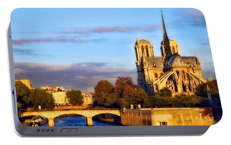Notre Dame Portable Battery Charger featuring the photograph Notre Dame by Mick Burkey