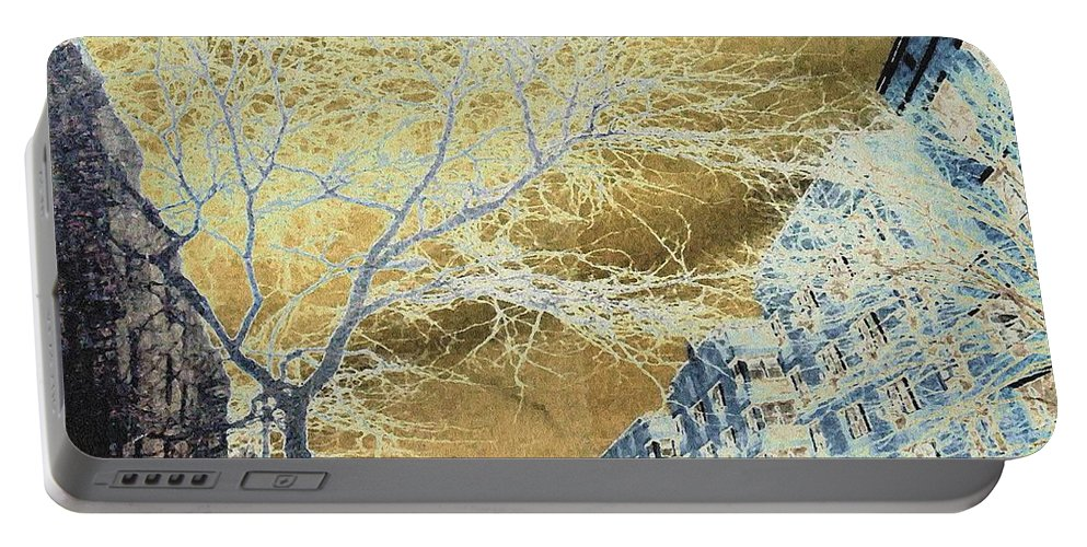 Buildings Portable Battery Charger featuring the photograph November In The Heights by Sarah Loft