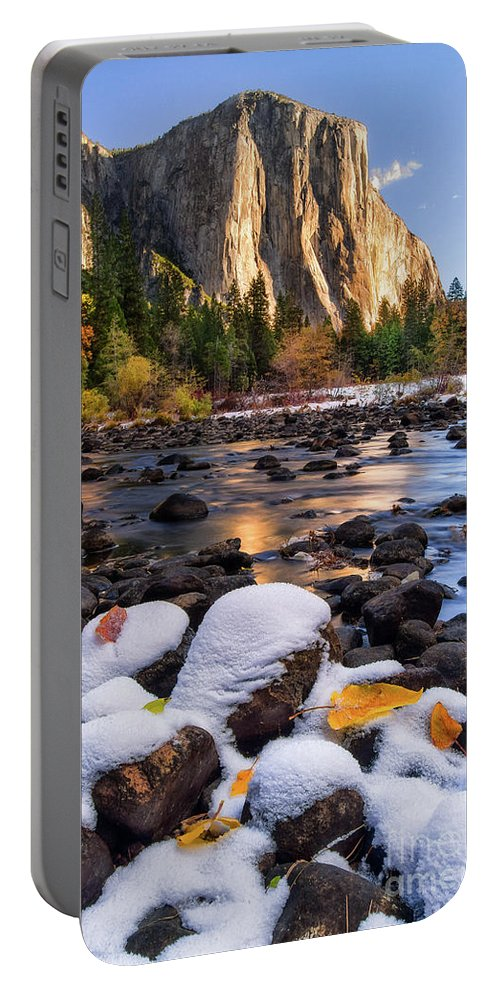 Yosemite Portable Battery Charger featuring the photograph November Morning by Anthony Michael Bonafede