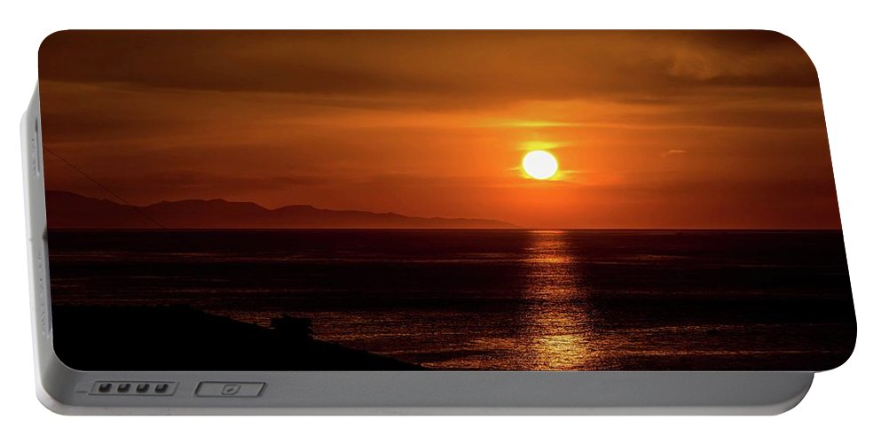 Sunrise Portable Battery Charger featuring the photograph November Sunrise by Larkin's Balcony Photography