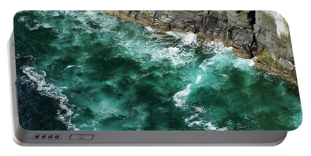 Irish Portable Battery Charger featuring the photograph Nowhere To Go Cliffs Of Moher Ireland by Teresa Mucha