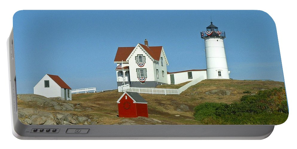 Nubble Portable Battery Charger featuring the photograph Nubble Light by Margie Wildblood
