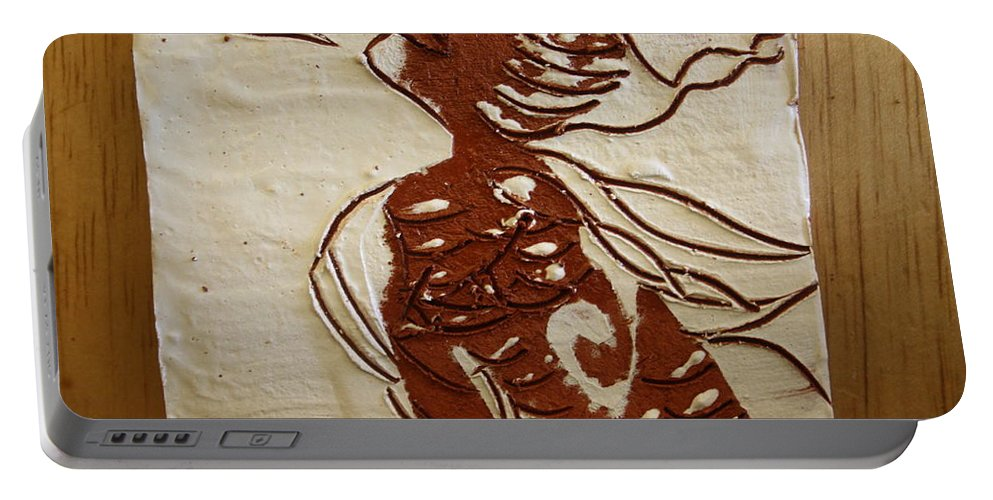 Jesus Portable Battery Charger featuring the ceramic art Nude 10 - Tile by Gloria Ssali