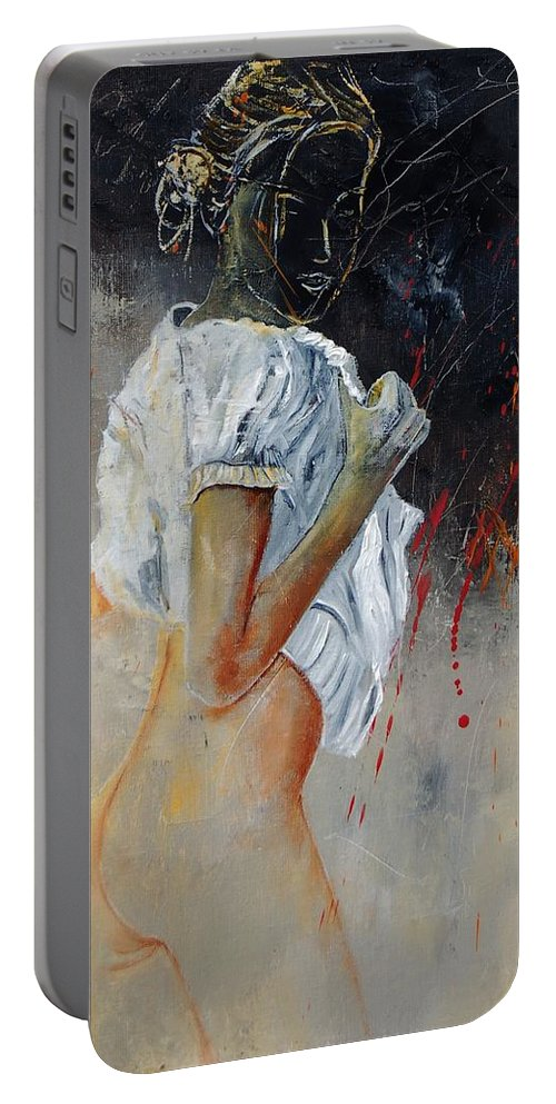 Nude Portable Battery Charger featuring the painting Nude 560508 by Pol Ledent