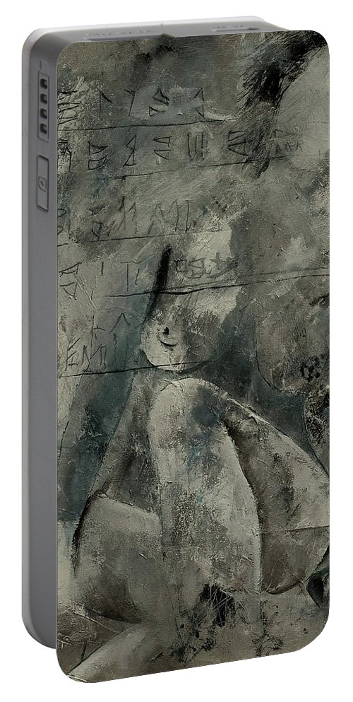 Nude Portable Battery Charger featuring the painting Nude 560845 by Pol Ledent