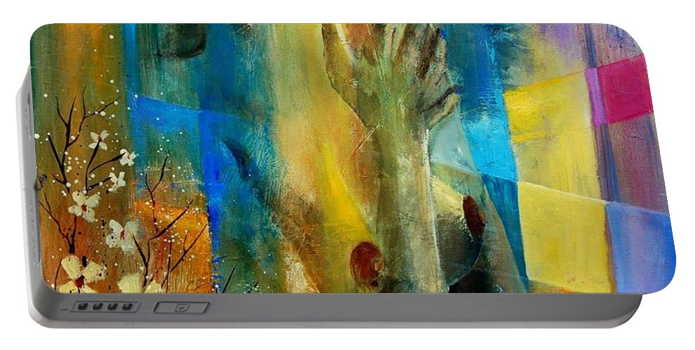 Nude Portable Battery Charger featuring the painting Nude 5609082 by Pol Ledent