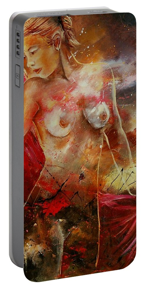 Nude Portable Battery Charger featuring the painting Nude 561008 by Pol Ledent