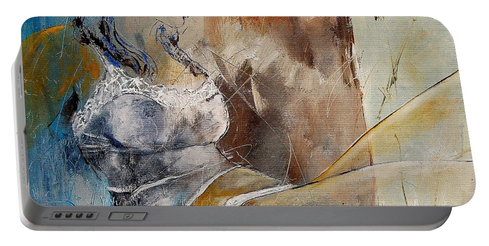 Nude Portable Battery Charger featuring the painting Nude 67524236 by Pol Ledent