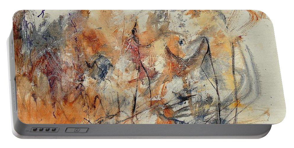 Girl Portable Battery Charger featuring the painting Nude 679070 by Pol Ledent