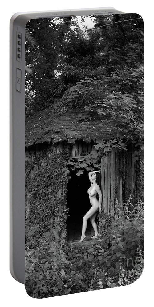 Burlesque Portable Battery Charger featuring the photograph Nude Art Photography By Mary Bassett by Mary Bassett