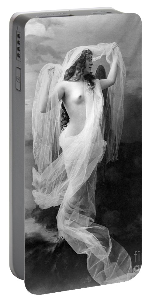 1900 Portable Battery Charger featuring the painting Nude, C1900 by Granger