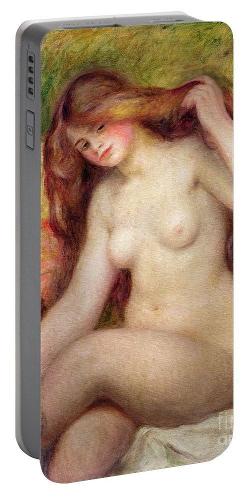 Nude Portable Battery Charger featuring the painting Nude by Renoir