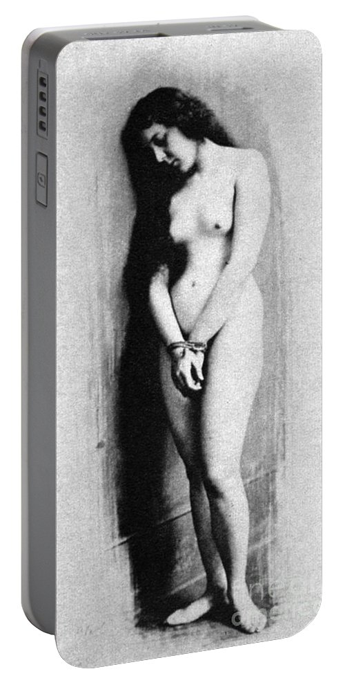 1901 Portable Battery Charger featuring the photograph Nude Slave, 1901 by Granger