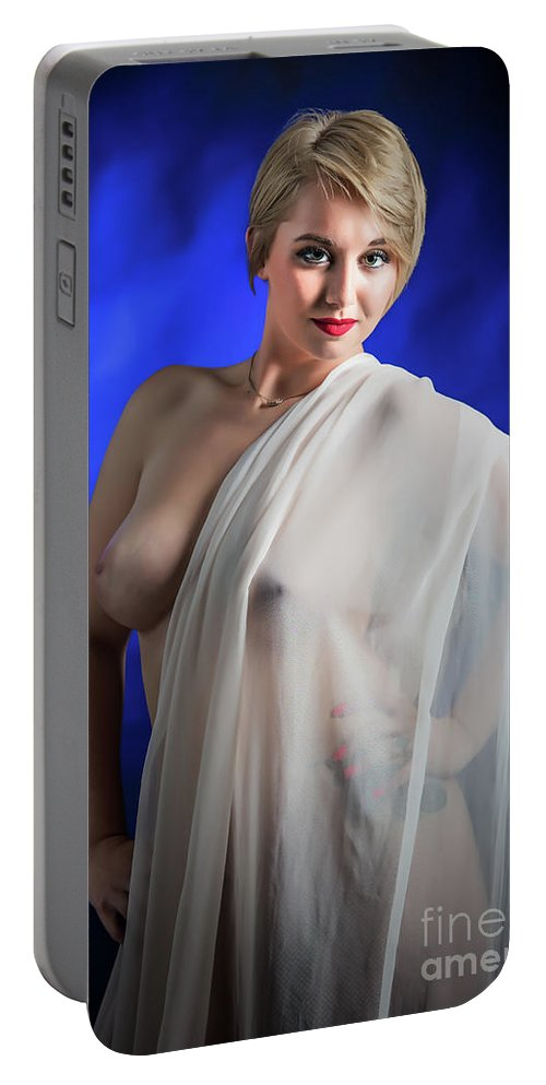 Nude Portable Battery Charger featuring the photograph Nude Woman Model 1722 006.1722 by Kendree Miller