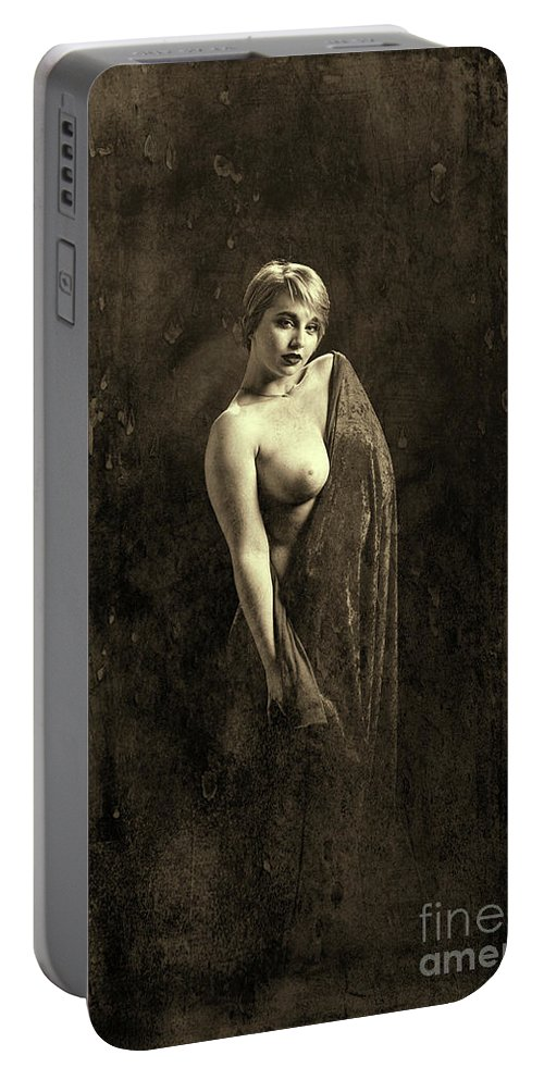 Nude Portable Battery Charger featuring the photograph Nude Woman Model 1722 019.1722 by Kendree Miller