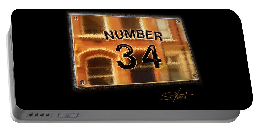 Number Portable Battery Charger featuring the photograph Number 34 by Charles Stuart