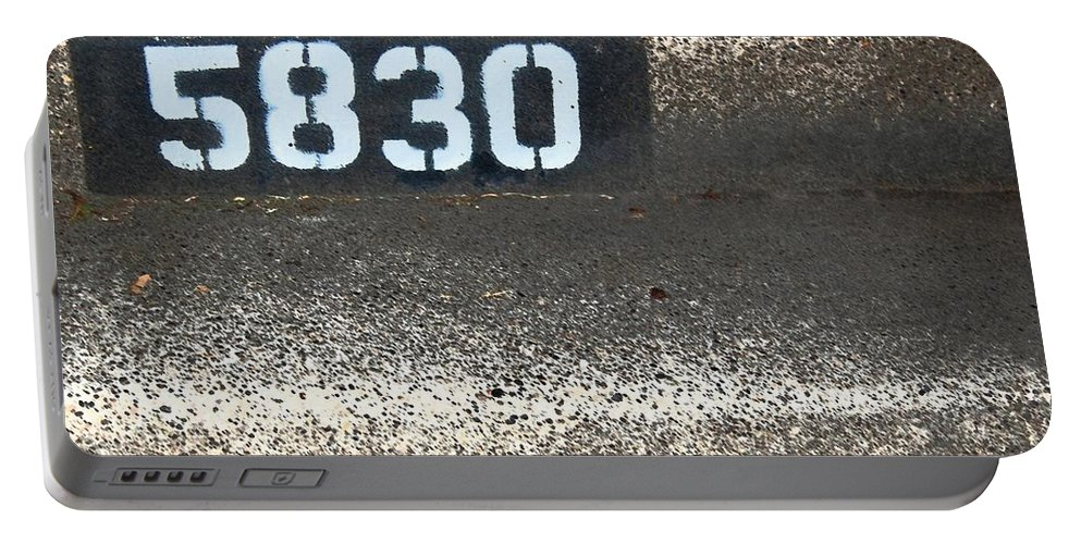 Numbers Portable Battery Charger featuring the photograph Numbers by Debbi Granruth