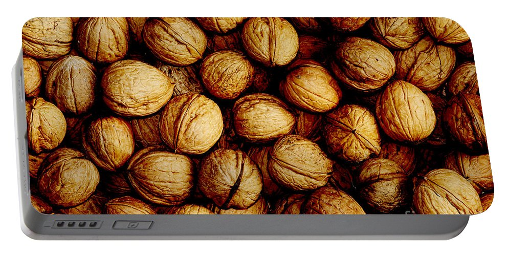 Fruit Portable Battery Charger featuring the photograph Nuts by Michal Boubin