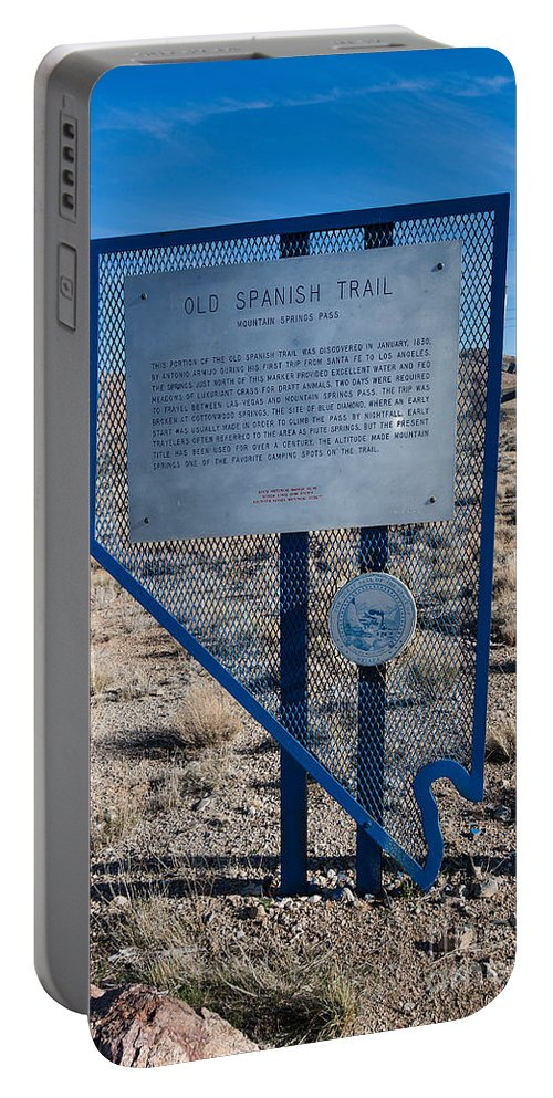 Old Spanish Trail Portable Battery Charger featuring the photograph Nv-142 Old Spanish Trail Mountain Springs Pass by Jason O Watson