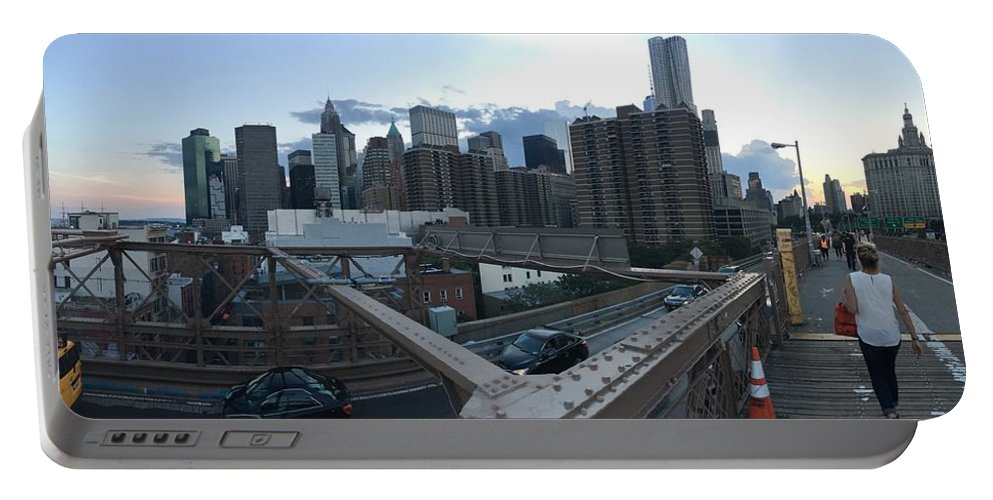 Portable Battery Charger featuring the photograph NYC by Ashley Torres