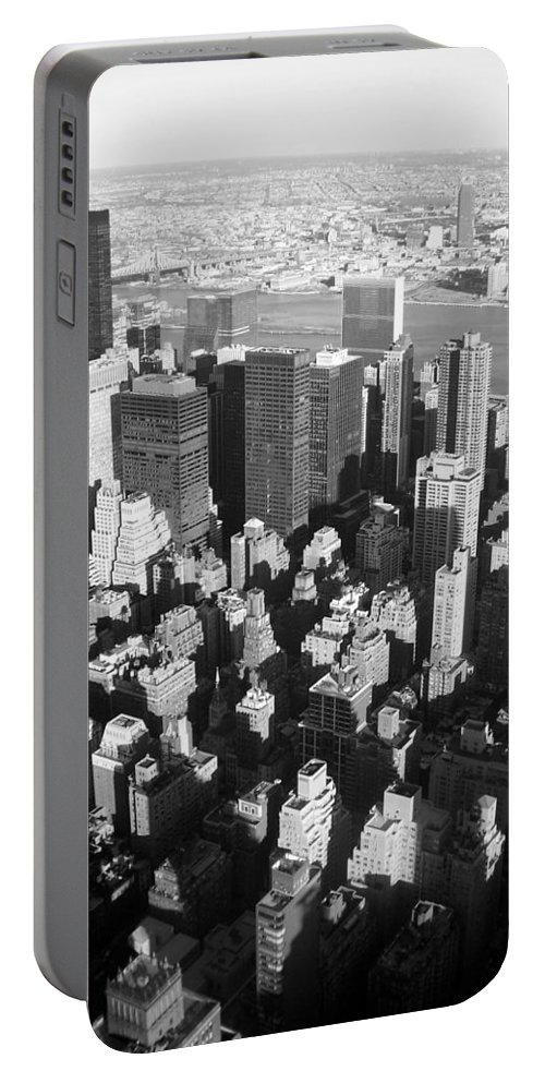 Nyc Portable Battery Charger featuring the photograph Nyc Bw by Anita Burgermeister