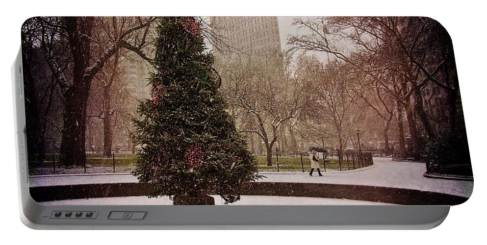 Christmas Portable Battery Charger featuring the photograph Nyc Christmas by Chris Lord