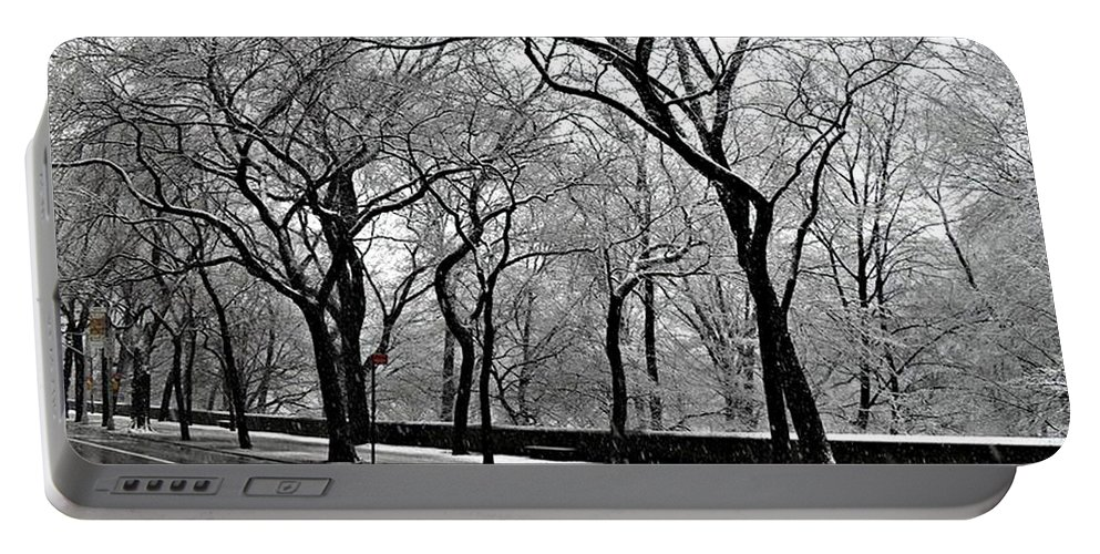 Winter Landscapes Portable Battery Charger featuring the photograph Nyc Winter Wonderland by Vannetta Ferguson