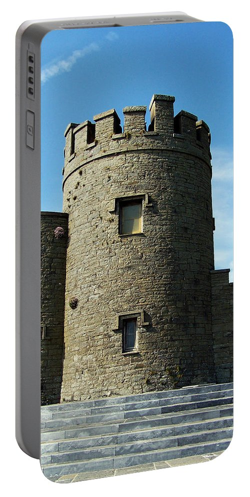 Irish Portable Battery Charger featuring the photograph O Brien's Tower Cliffs Of Moher Ireland by Teresa Mucha