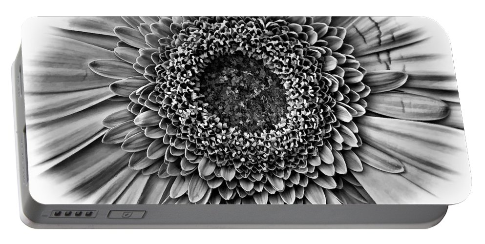 Flower Portable Battery Charger featuring the photograph O Bw by Steve Harrington
