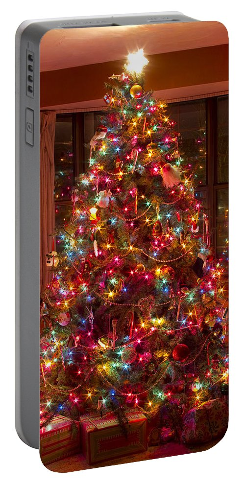 Christmas Tree Portable Battery Charger featuring the photograph O Christmast Tree by James BO Insogna