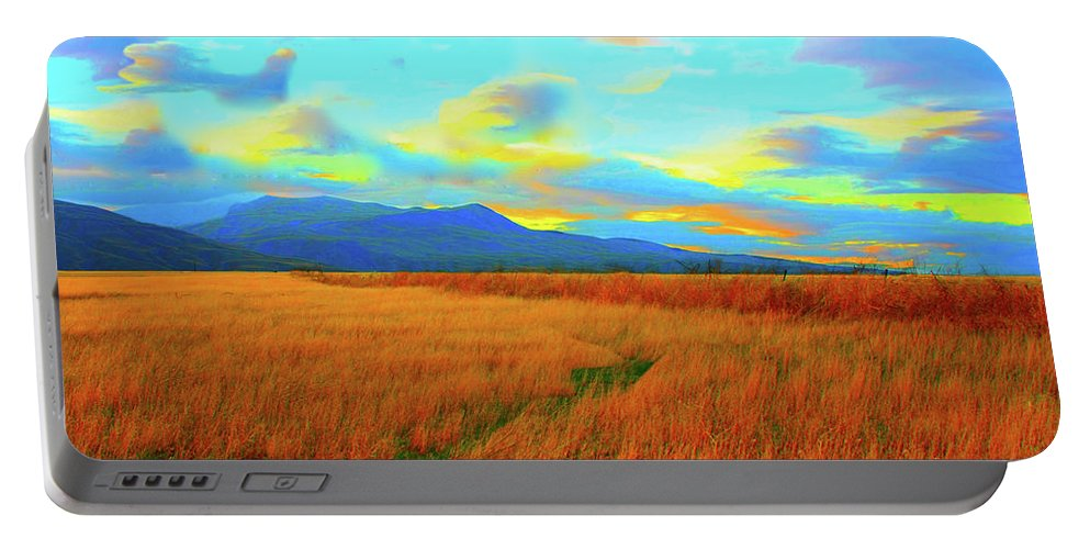 Sky Portable Battery Charger featuring the photograph O Prairie Mother by Stephen Edwards