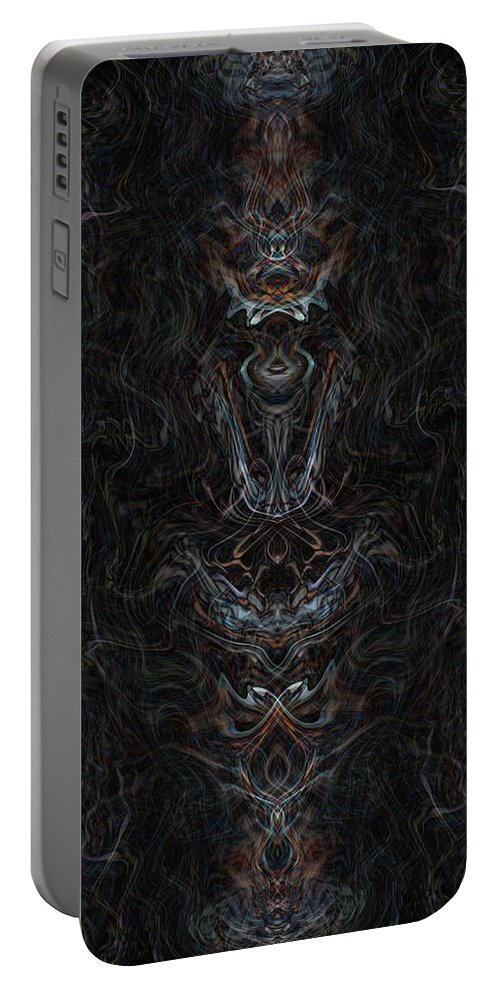 Deep Portable Battery Charger featuring the digital art Oa-1963 by Standa1one