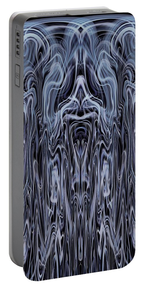Deep Portable Battery Charger featuring the digital art Oa-1985 by Standa1one