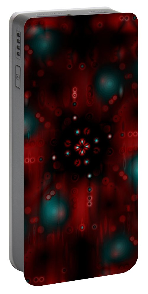 Deep Portable Battery Charger featuring the digital art Oa-1996 by Standa1one