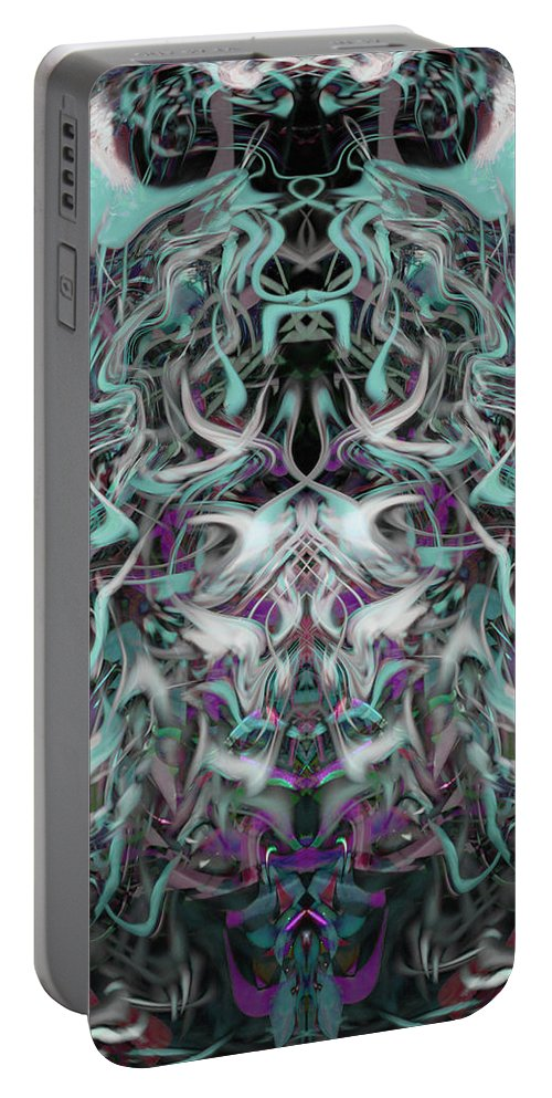 Deep Portable Battery Charger featuring the digital art Oa-4627 by Standa1one