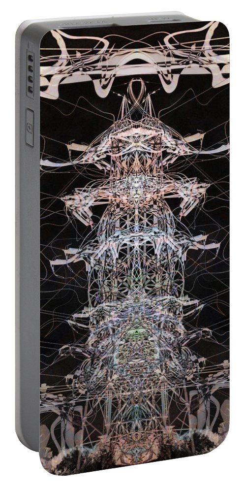 Deep Portable Battery Charger featuring the digital art Oa-4764 by Standa1one