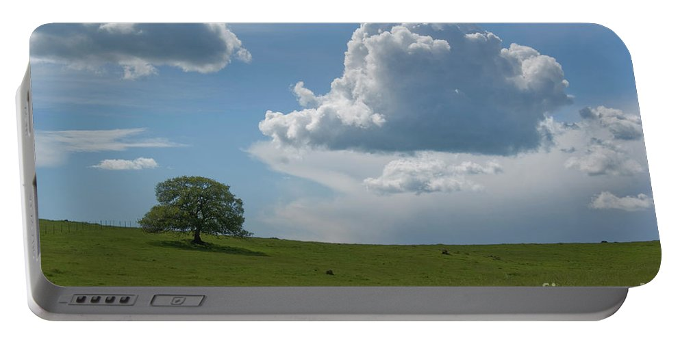 Oak Portable Battery Charger featuring the photograph Oak After Storm by Jim And Emily Bush
